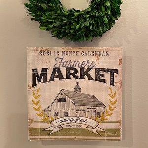 Farmers Market Wall Calendar 2021